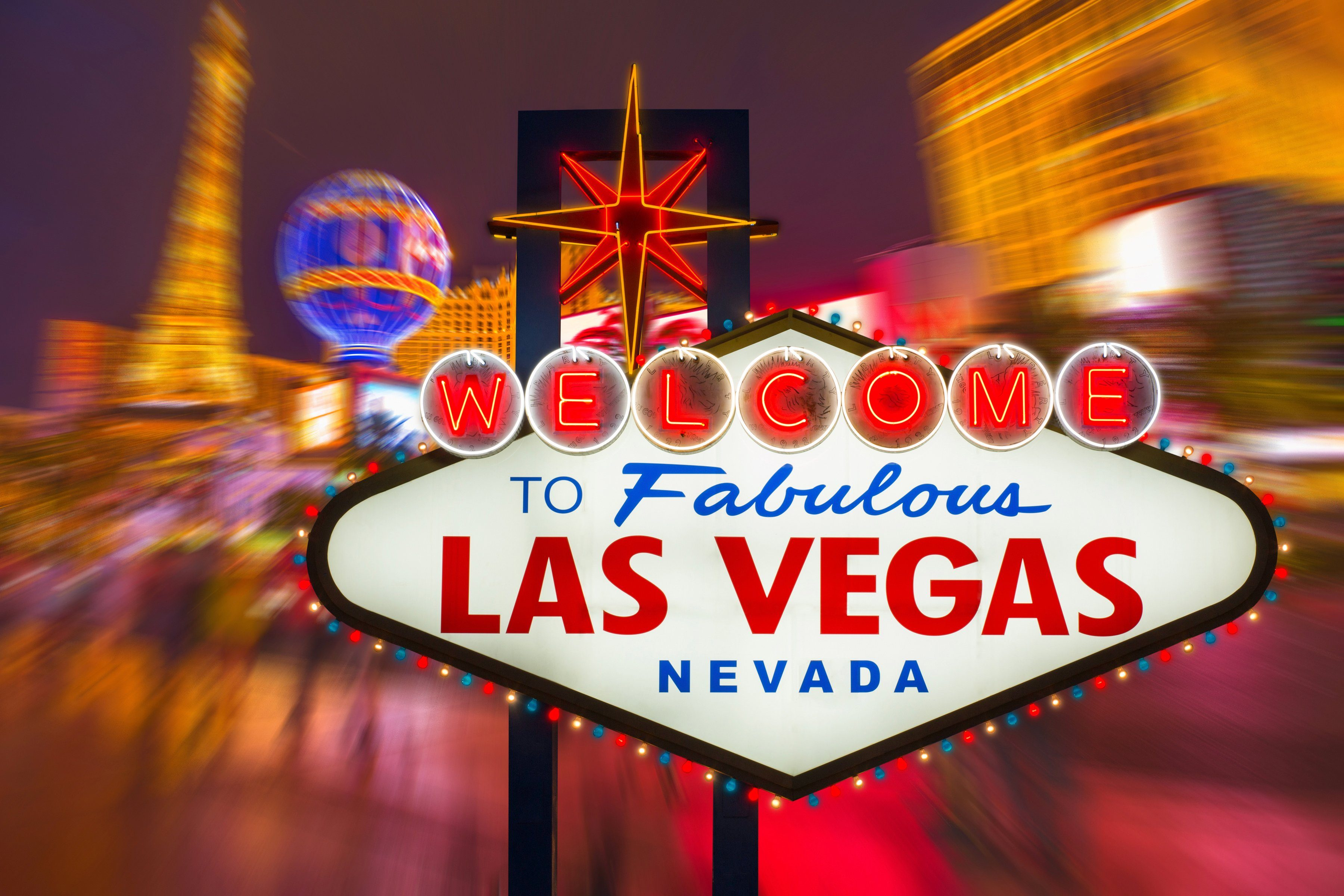 PAPERMOON Fototapete »Fabulous Las Vegas«, BlueBack, 7 Bahnen, 350 x 260 cm