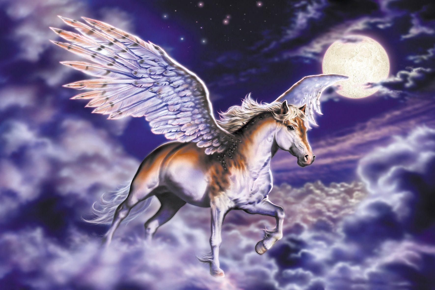 PAPERMOON Fototapete »Pegasus«, BlueBack, 7 Bahnen, 350 x 260 cm