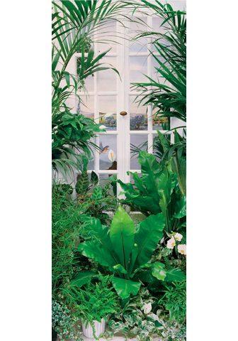 PAPERMOON Fototapetas »Flower Window - Türtapete...