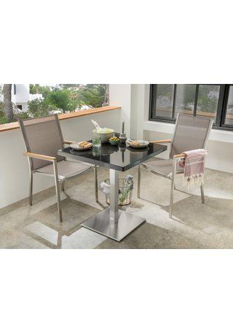 DESTINY Sodo kėdė »MACAO« Stahl/Textil stapelb...