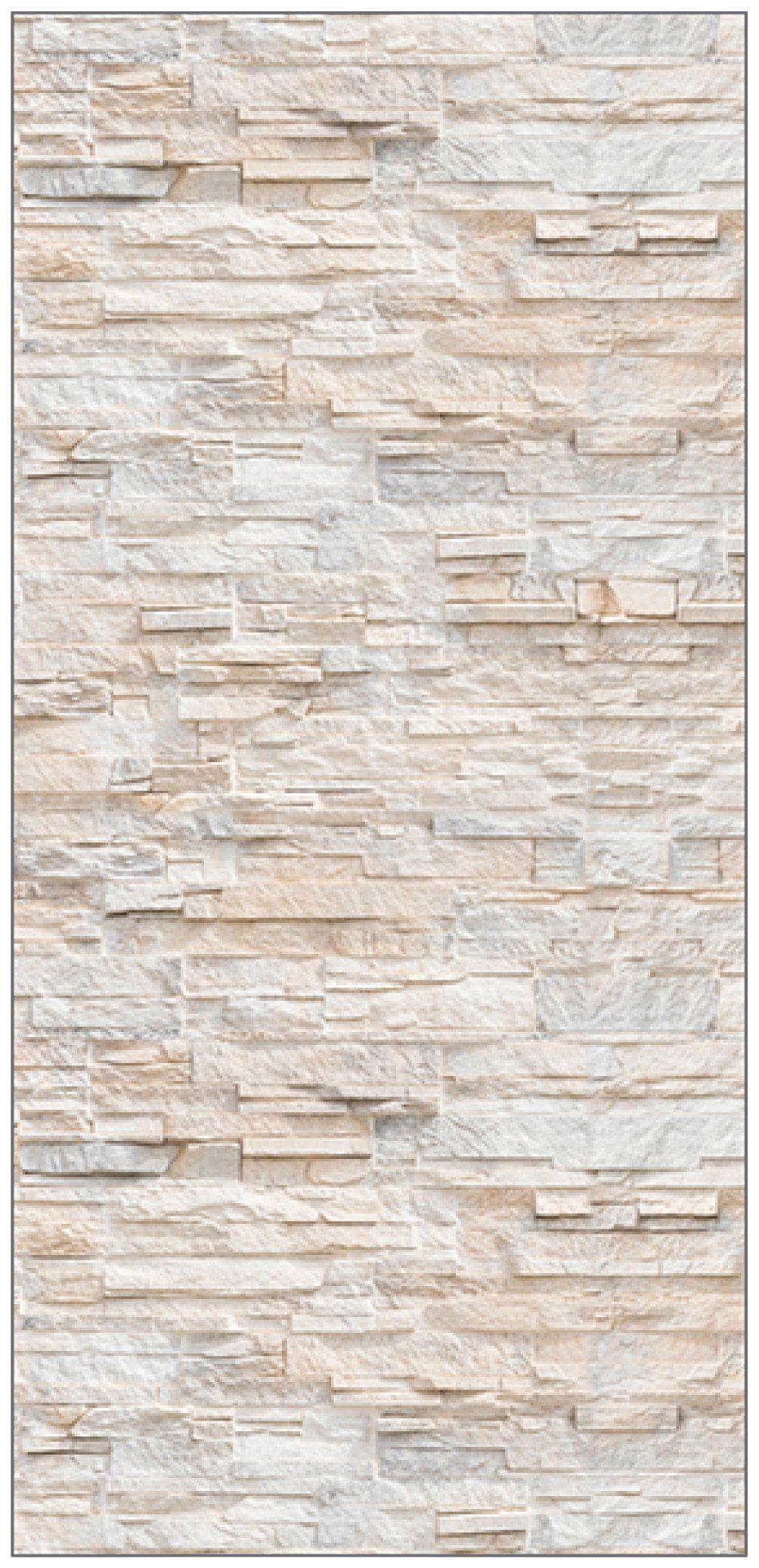 MYSPOTTI Duschrückwand »fresh F3 Bruchsteinwand Beige«, 100 x 210 cm