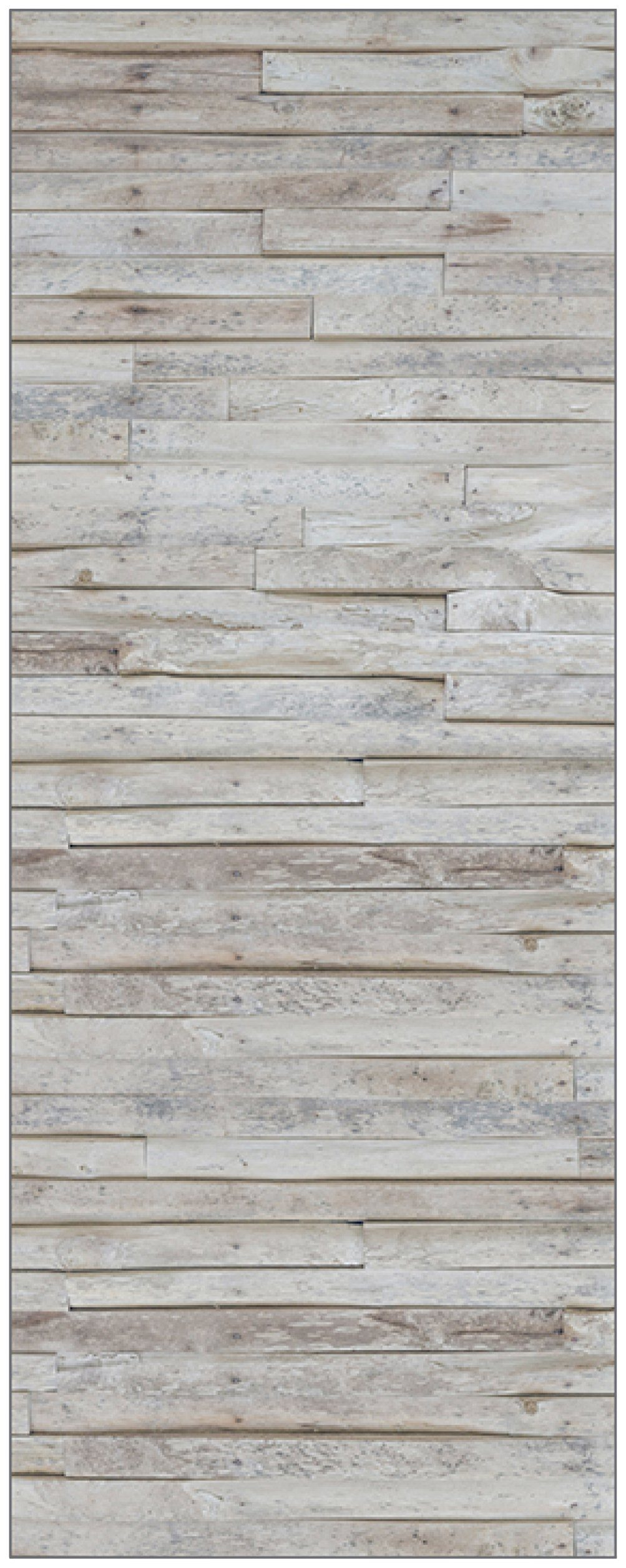 MYSPOTTI Duschrückwand »fresh F1 Wood Planks«, 100 x 255 cm