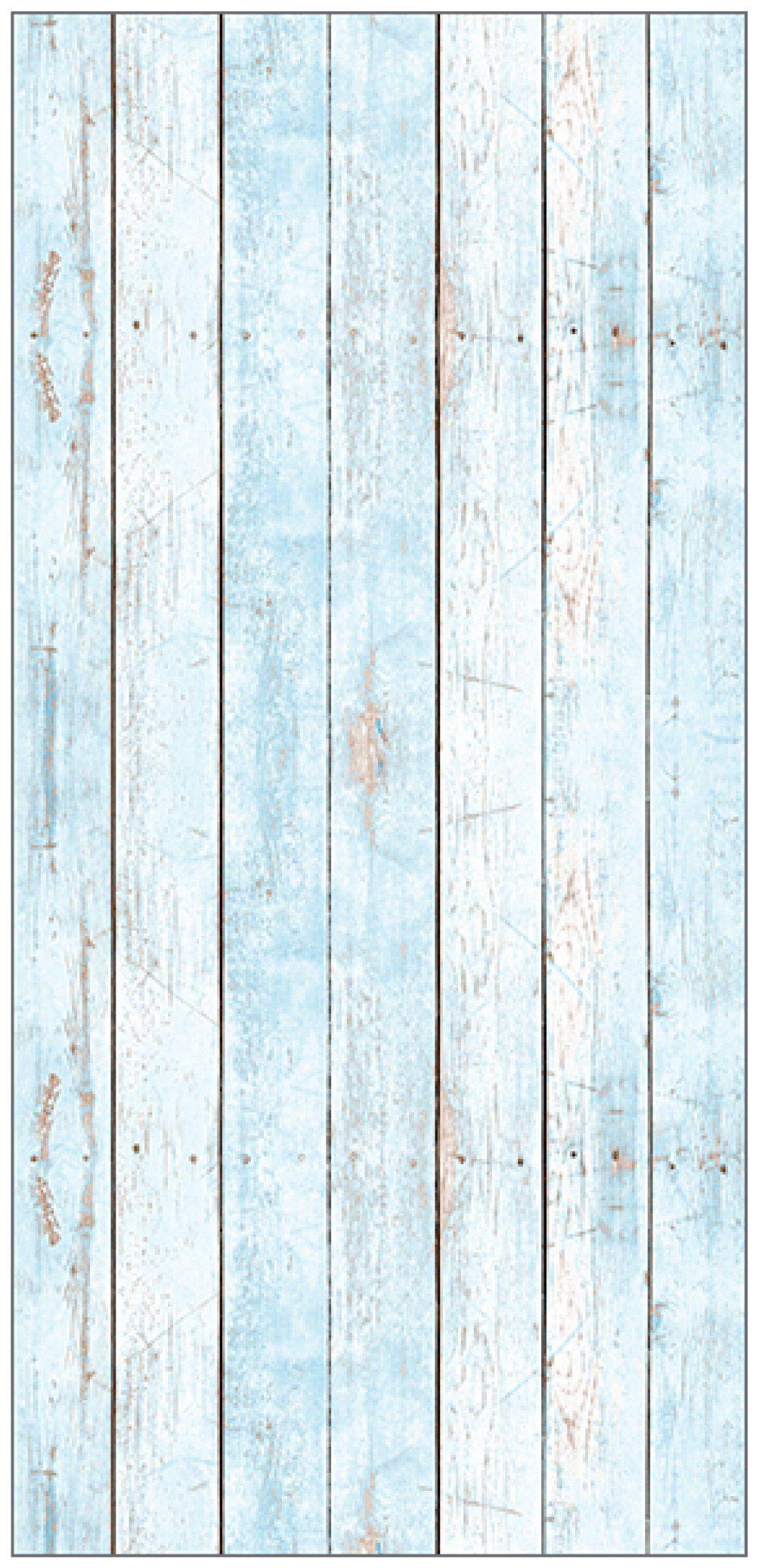 MYSPOTTI Duschrückwand »fresh F3 Wood Light Blue«, 100 x 210 cm