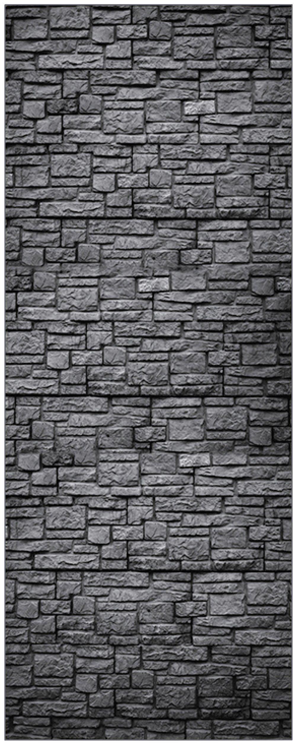 MYSPOTTI Duschrückwand »fresh F1 Steinwand Anthrazit«, 100 x 255 cm