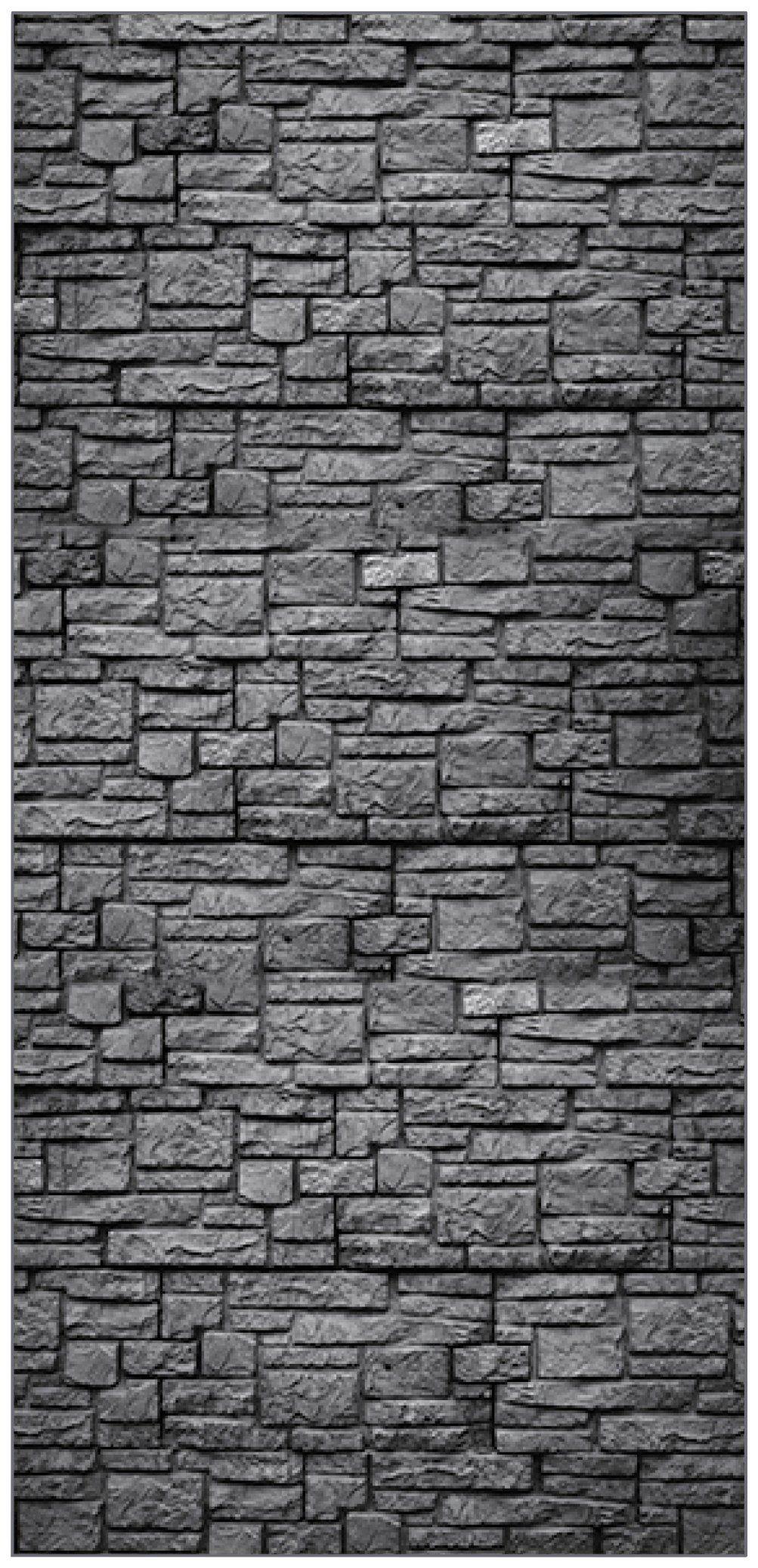 MYSPOTTI Duschrückwand »fresh F3 Steinwand Anthrazit«, 100 x 210 cm