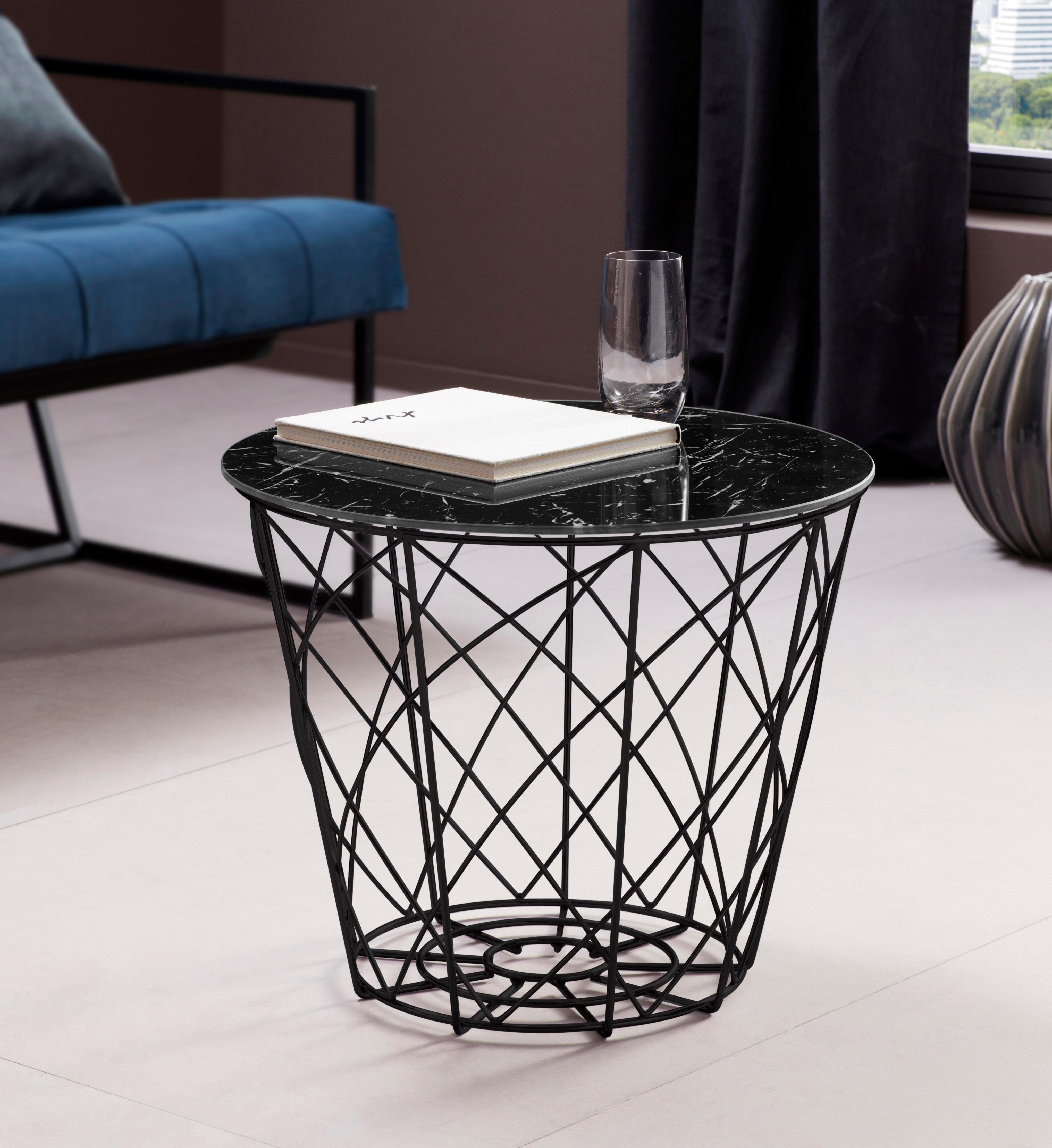 Glas beistelltisch rund preisvergleich die besten for Tischplatte marmoroptik