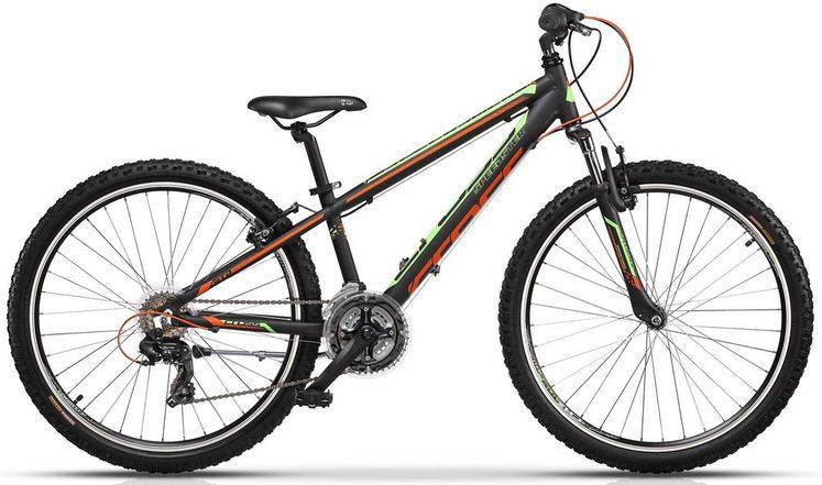 CROSS Mountainbike, 6 Gang Shimano Tourney RD-TY300/ SL-RS35-7 Schaltwerk, Kettenschaltung