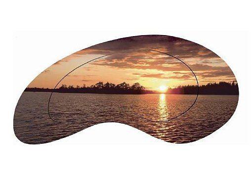 Home affaire, Wandbild, »Sonnenuntergang am Meer«, 112/54 cm