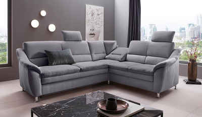 Places of Style Ecksofa »Cardoso«, Federkern, wahlweise mit Bett, Schubkasten, teilweise Relaxfunktion