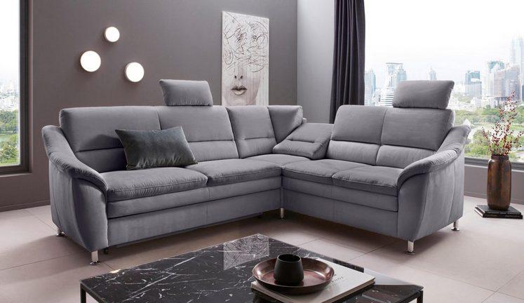 Places of Style Ecksofa »Cardoso«, Federkern, wahlweise mit Bett, Schubkasten, Relaxfunktion