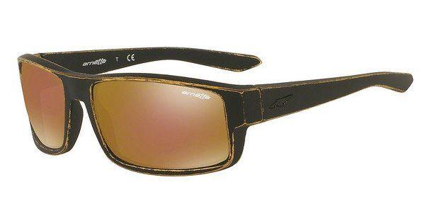 Arnette Herren Sonnenbrille »BOXCAR AN4224«, schwarz, 41/81 - schwarz/grau