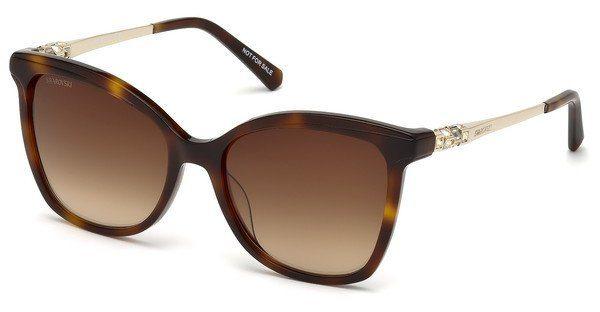 Swarovski Damen Sonnenbrille » SK0154-H«, braun, 52F - braun/braun