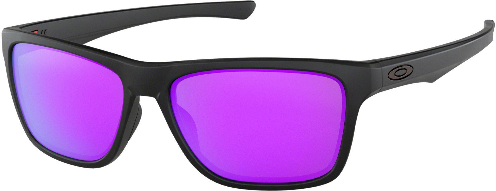 Oakley Sportbrille »Holston Sunglasses«, schwarz, schwarz