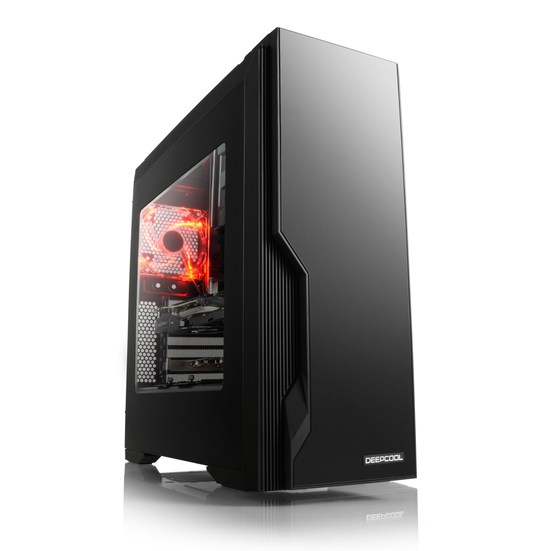 DeepCool Gehäuse, Sichtfenster, schwarz, rote Beleuchtung »Deepcool Dukase«