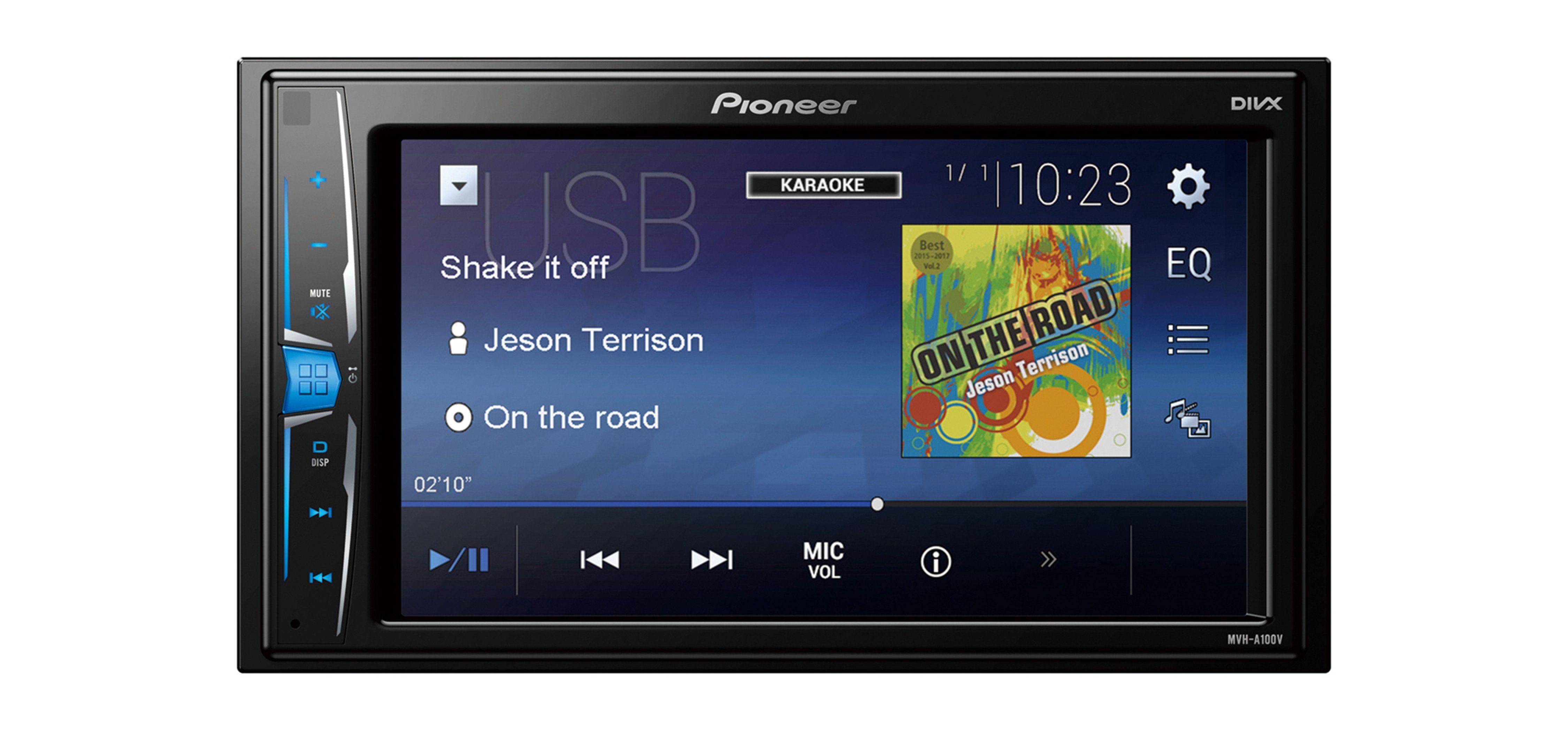 PIONEER 2-DIN Medienzentrale mit Radio, USB, Videoeingang »MVH-A100V«