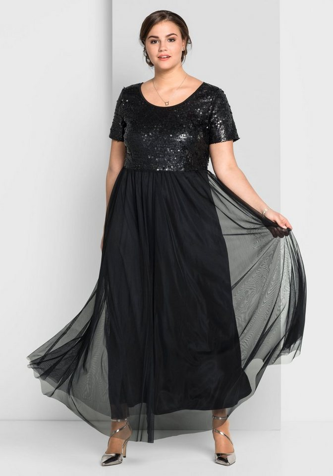 70e53db80974 sheego Style Abendkleid mit Pailletten besetzt   OTTO