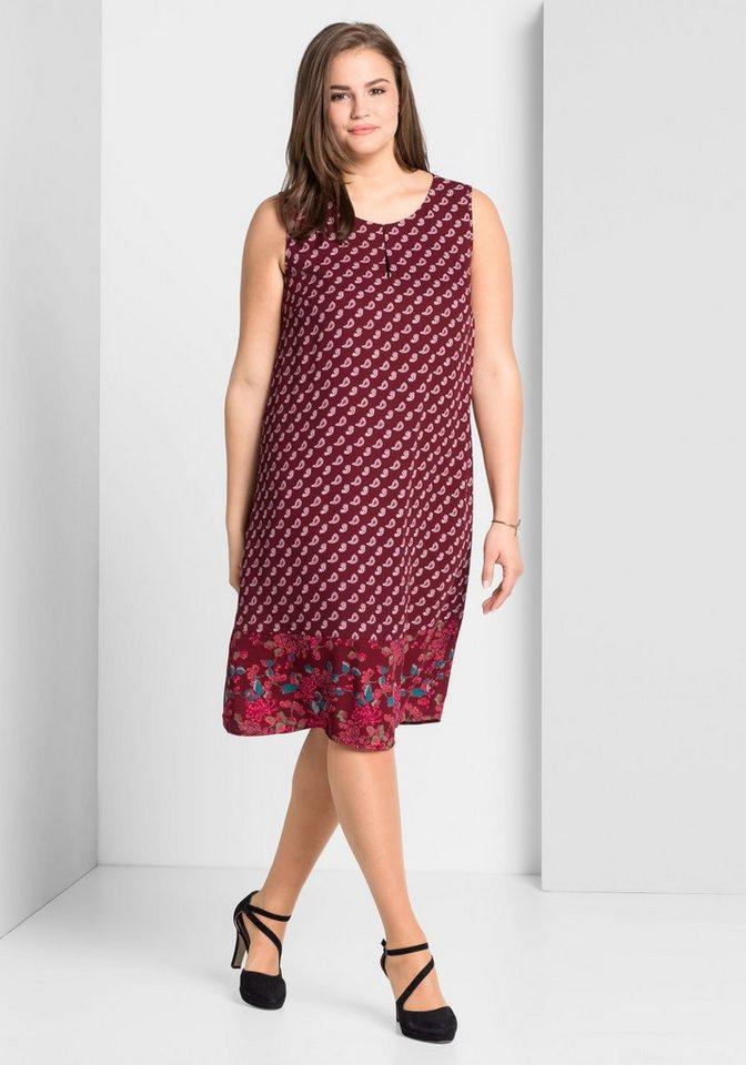 Sheego Druckkleid mit Allover-Paisleydruck | Bekleidung > Kleider > Druckkleider | Rot | Sheego