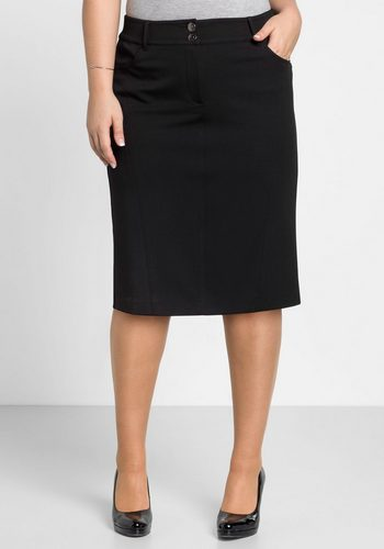 Damen sheego Style Bleistiftrock mit Shape-Effekt schwarz | 04061303016293