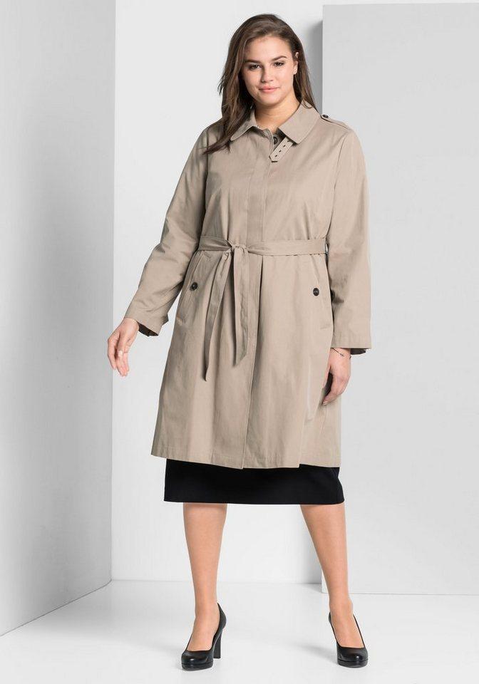 sheego Style Trenchcoat | Bekleidung > Mäntel > Trenchcoats | Braun | sheego Style