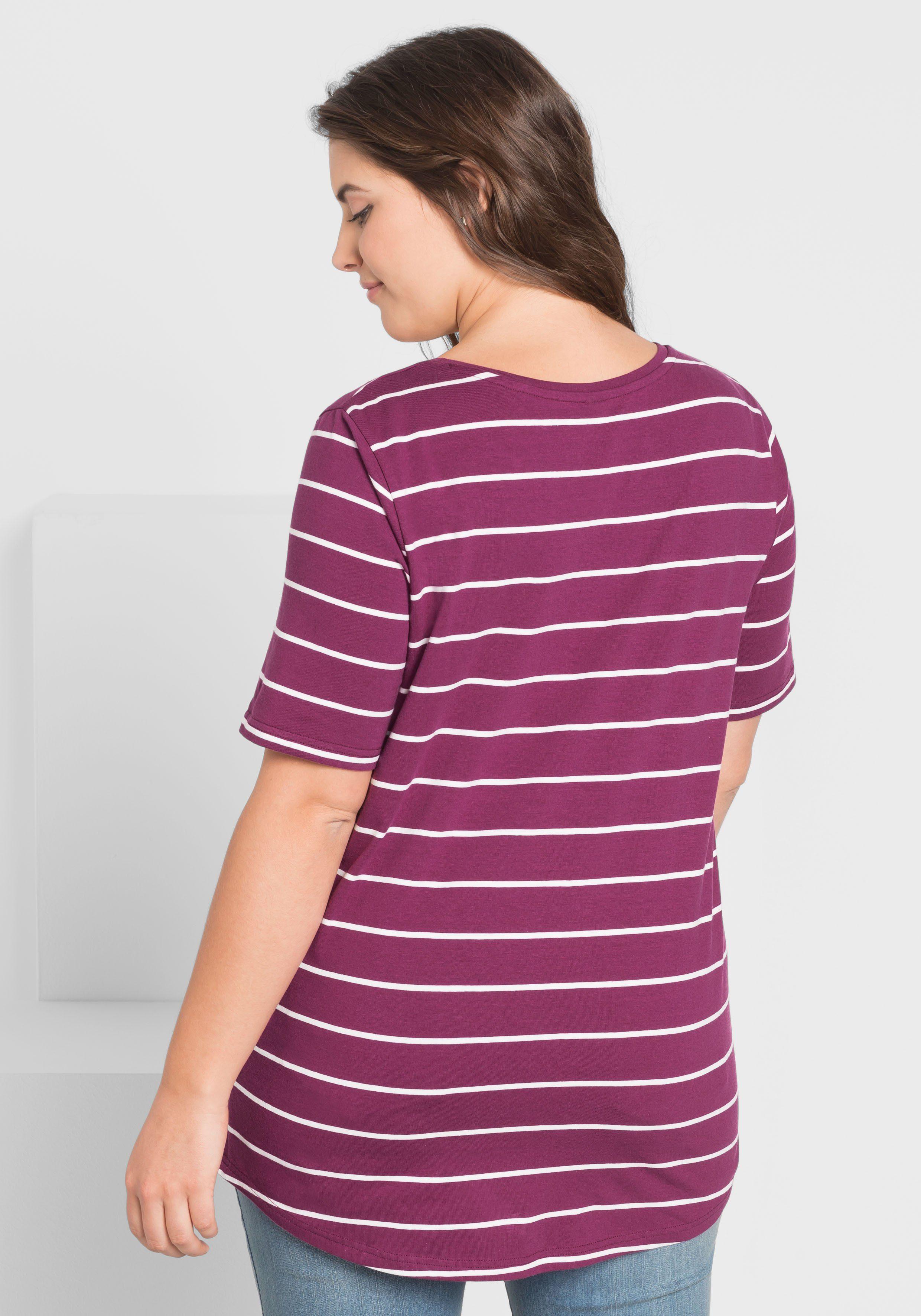 Online Kaufen Basic T shirtMit Längerem Sheego Halbarm EeD2HIW9Y