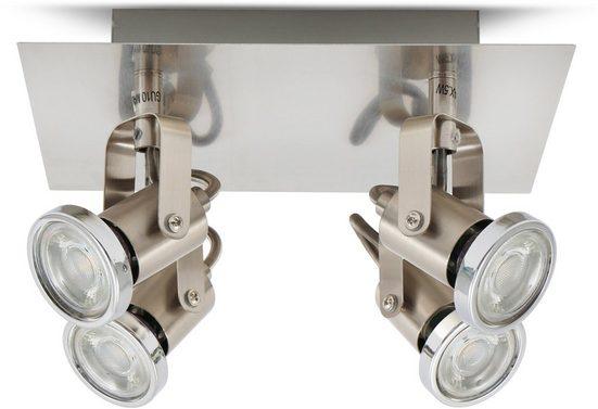 B.K.Licht LED Deckenleuchte  LED Deckenlampe/Spot klassisch mit GU10 Lampen