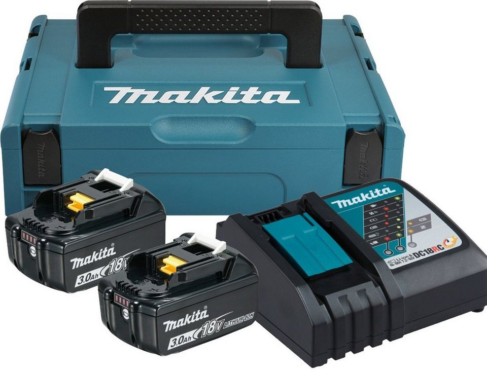 makita akku set power source kit 2 akkus 18 v 3 ah. Black Bedroom Furniture Sets. Home Design Ideas