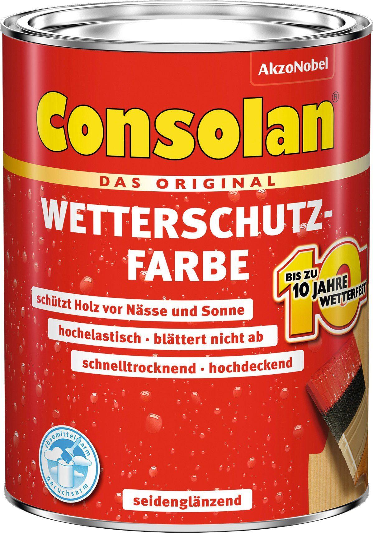 CONSOLAN Wetterschutzfarbe »Schiefer seidenglänzend«, 750 ml
