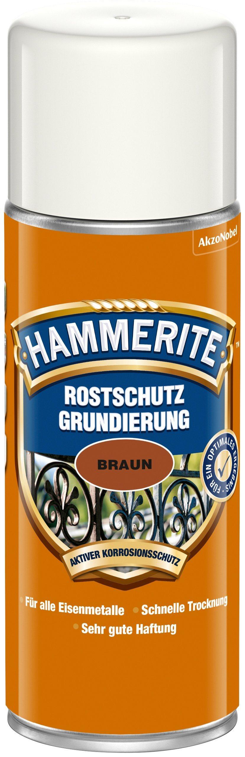 HAMMERITE Rostschutzgrund »Rostschutz Grundierung Sprühdose«, braun, matt, 400 ml
