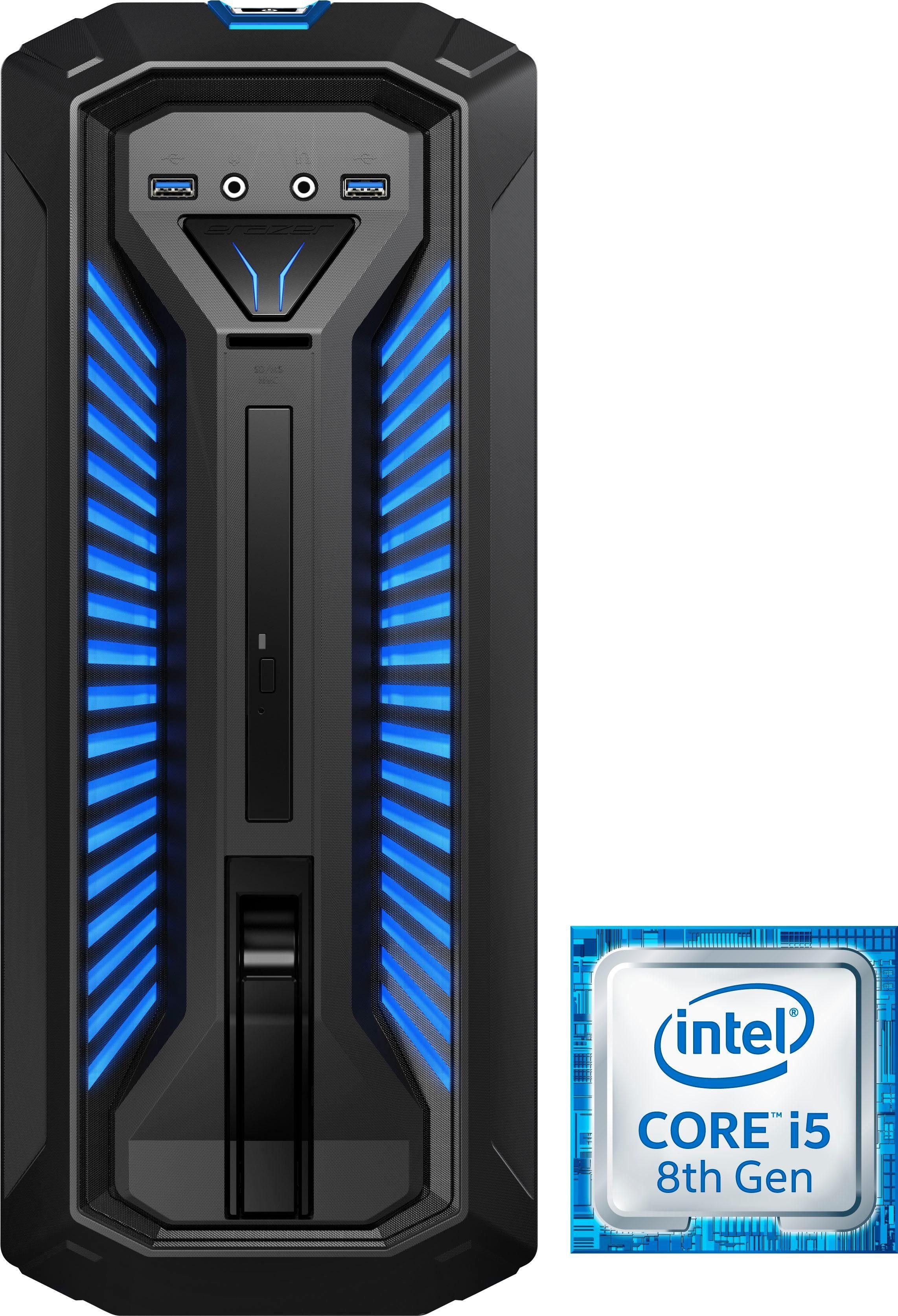 Medion® ERAZER P66009 MD34106/ C657 Gaming-PC (Intel Core i5, GeForce, 12 GB RAM, 1000 GB HDD, 128 GB SSD)