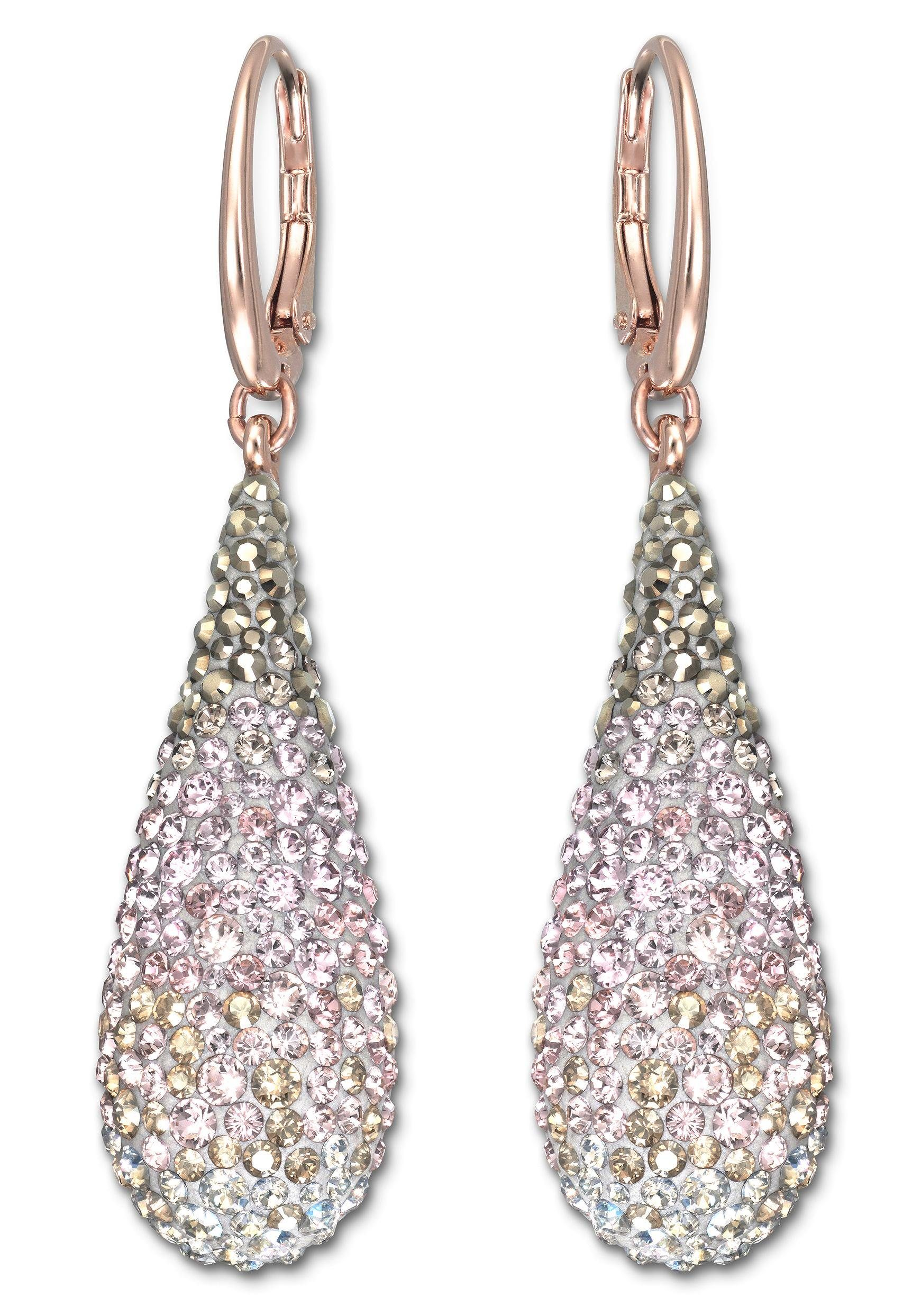 Swarovski Paar Ohrhänger »Abstract, mehrfarbig, rosé Vergoldung, 5046998« mit Swarovski® Kristallen