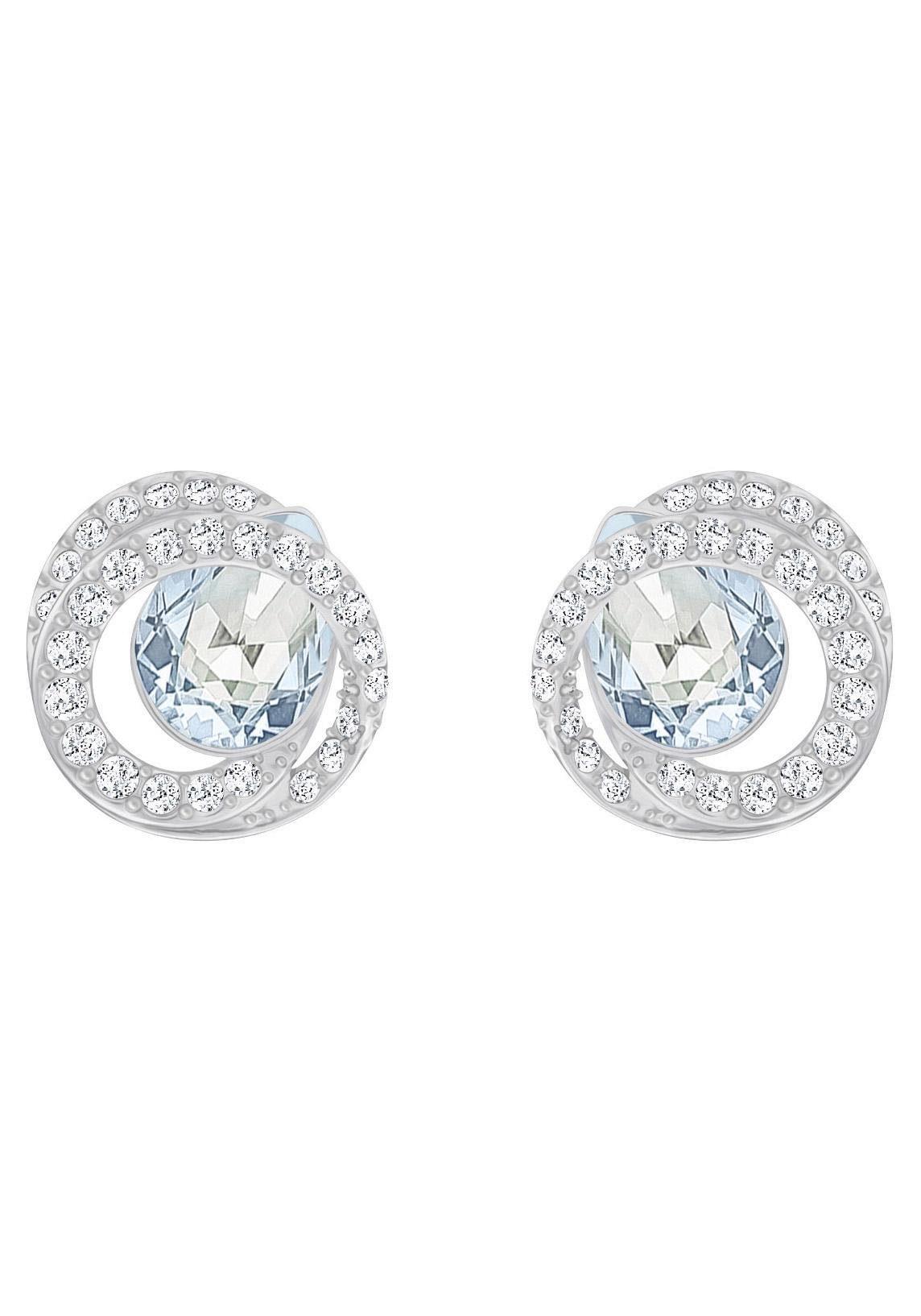 Swarovski Paar Ohrstecker »Generation, blau, rhodiniert, 5289026«, mit Swarovski® Kristallen