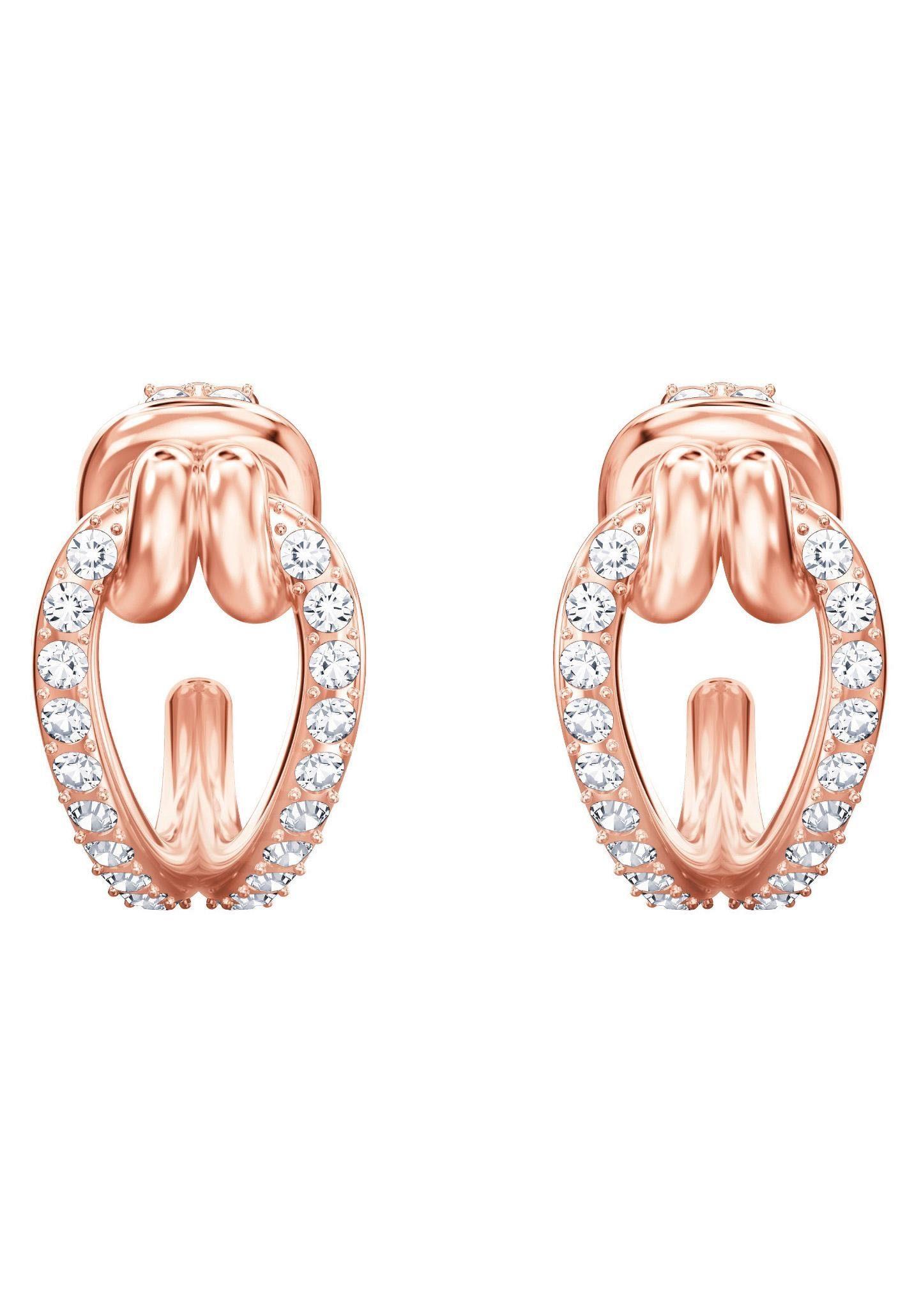 Swarovski Paar Ohrstecker »Lifelong, klein, weiss, rosé Vergoldung, 5392920« mit Swarovski® Kristallen