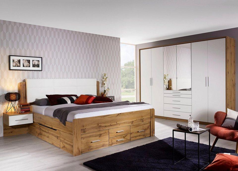 rauch PACK´S Schlafzimmer-Set »Weingarten«, 4-teilig, Set aus Bett, 2  Nachttischen und Drehtürenschrank online kaufen | OTTO