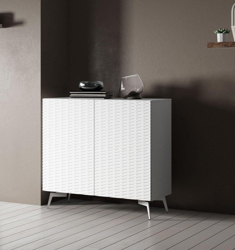 bruno banani sideboard design 4 mit 3d fronten in hochglanz in zwei breiten online kaufen otto. Black Bedroom Furniture Sets. Home Design Ideas