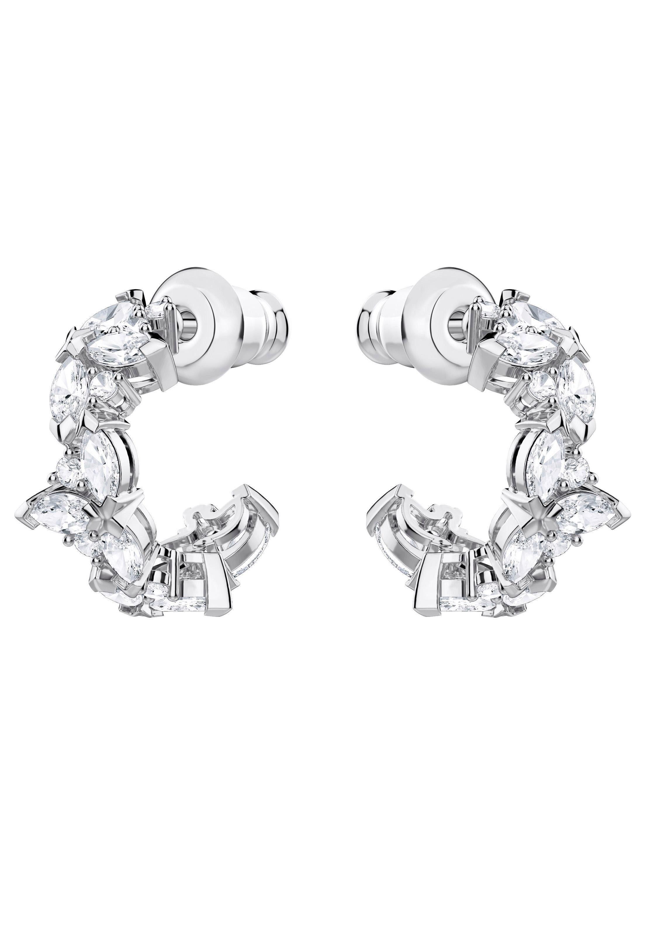 Swarovski Paar Ohrstecker »Lady, weiss, rhodiniert, 5390189« mit Swarovski® Kristallen