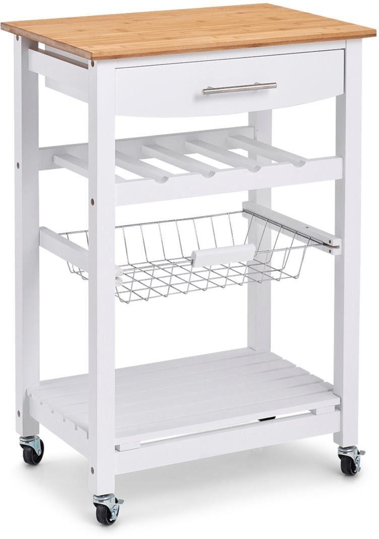 Zeller Present Küchenrollwagen, MDF, »Bamboo«