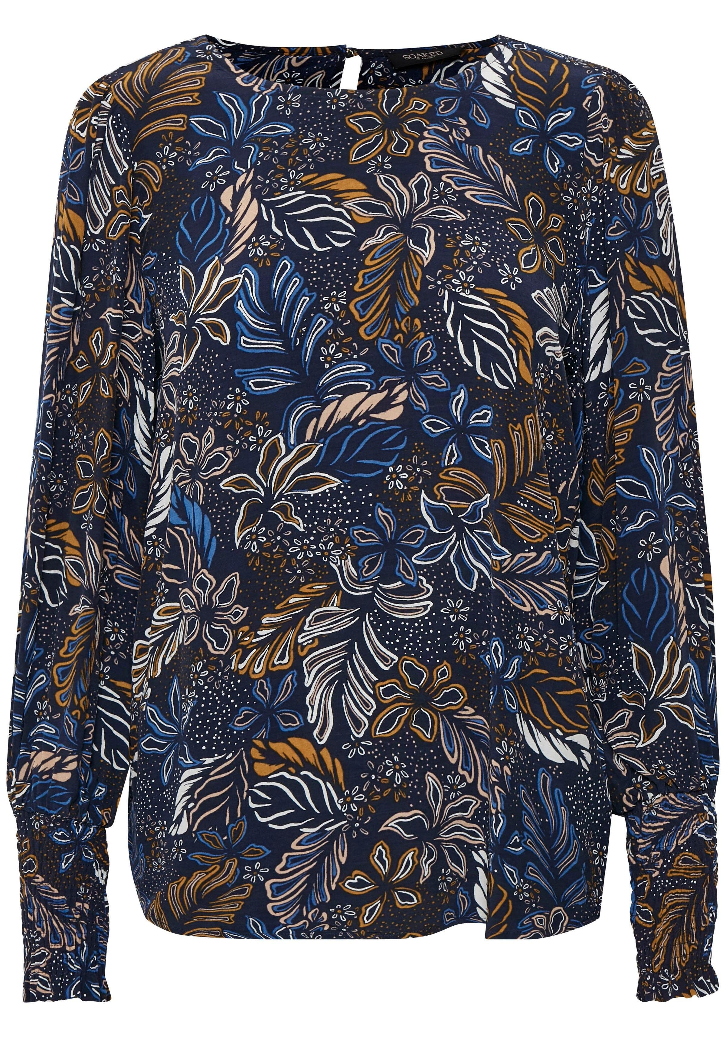 SOAKED IN LUXURY Druckbluse florales Muster