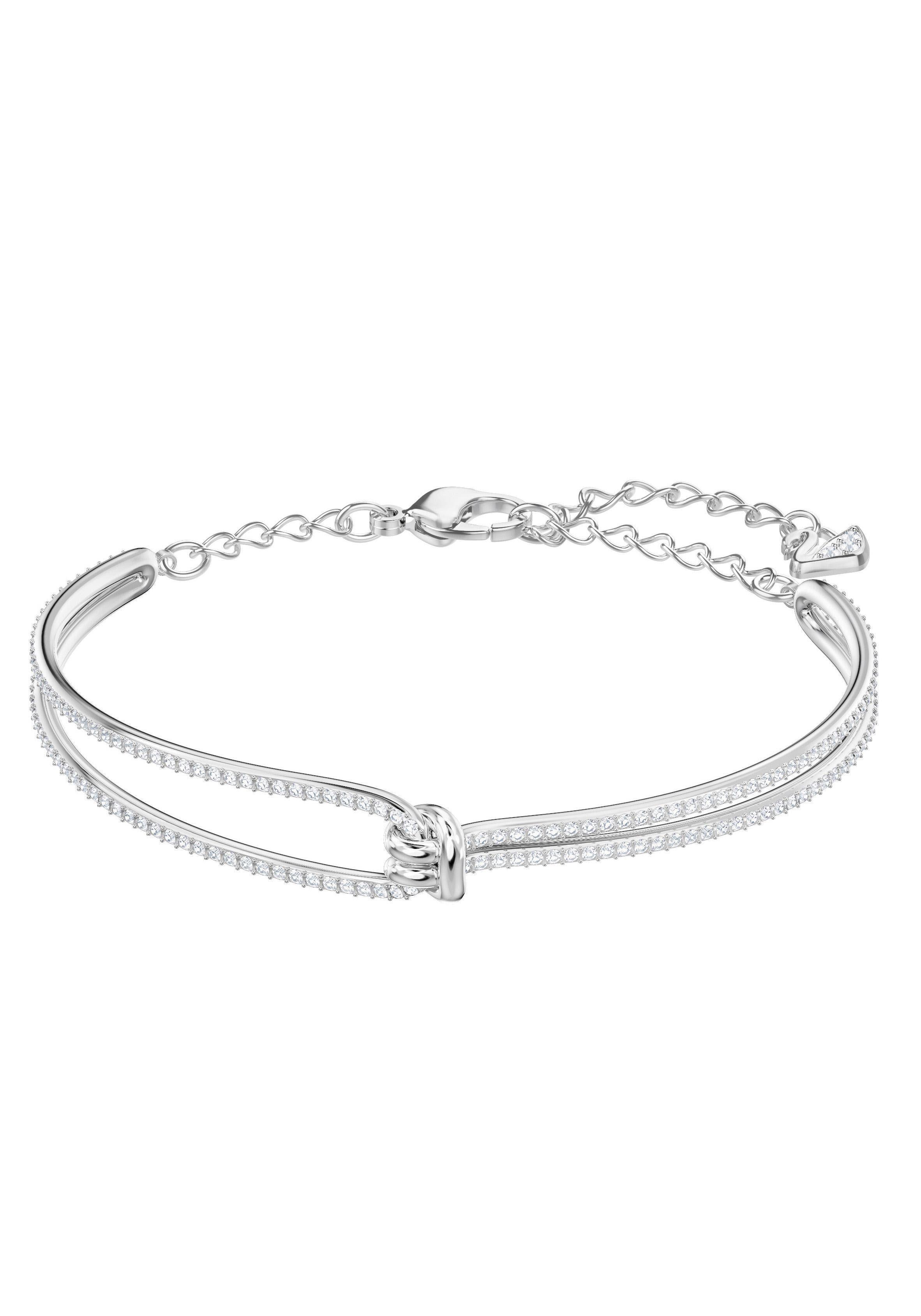 Swarovski Armreif »Lifelong Armreif, weiss, rhodiniert, 5368552« mit Swarovski® Kristallen