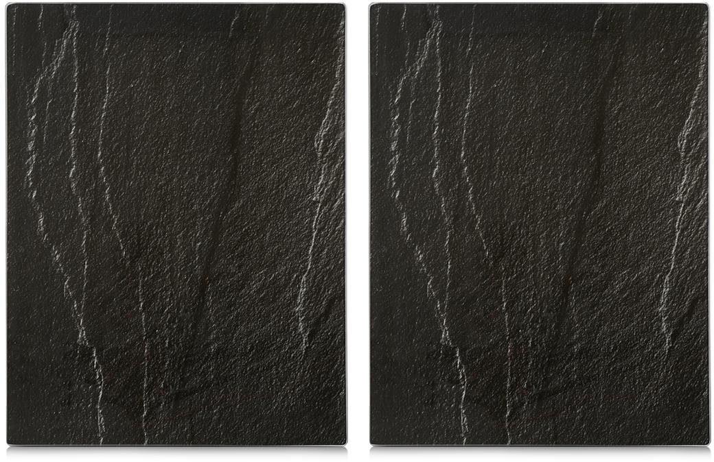 Zeller Present Herdabdeck-/Schneideplatten XL, 2er Set, »Schiefer«