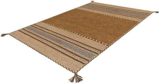 Teppich »Navarro«, Arte Espina, rechteckig, Höhe 8 mm, reine Baumwolle mit Fransen, Wohnzimmer