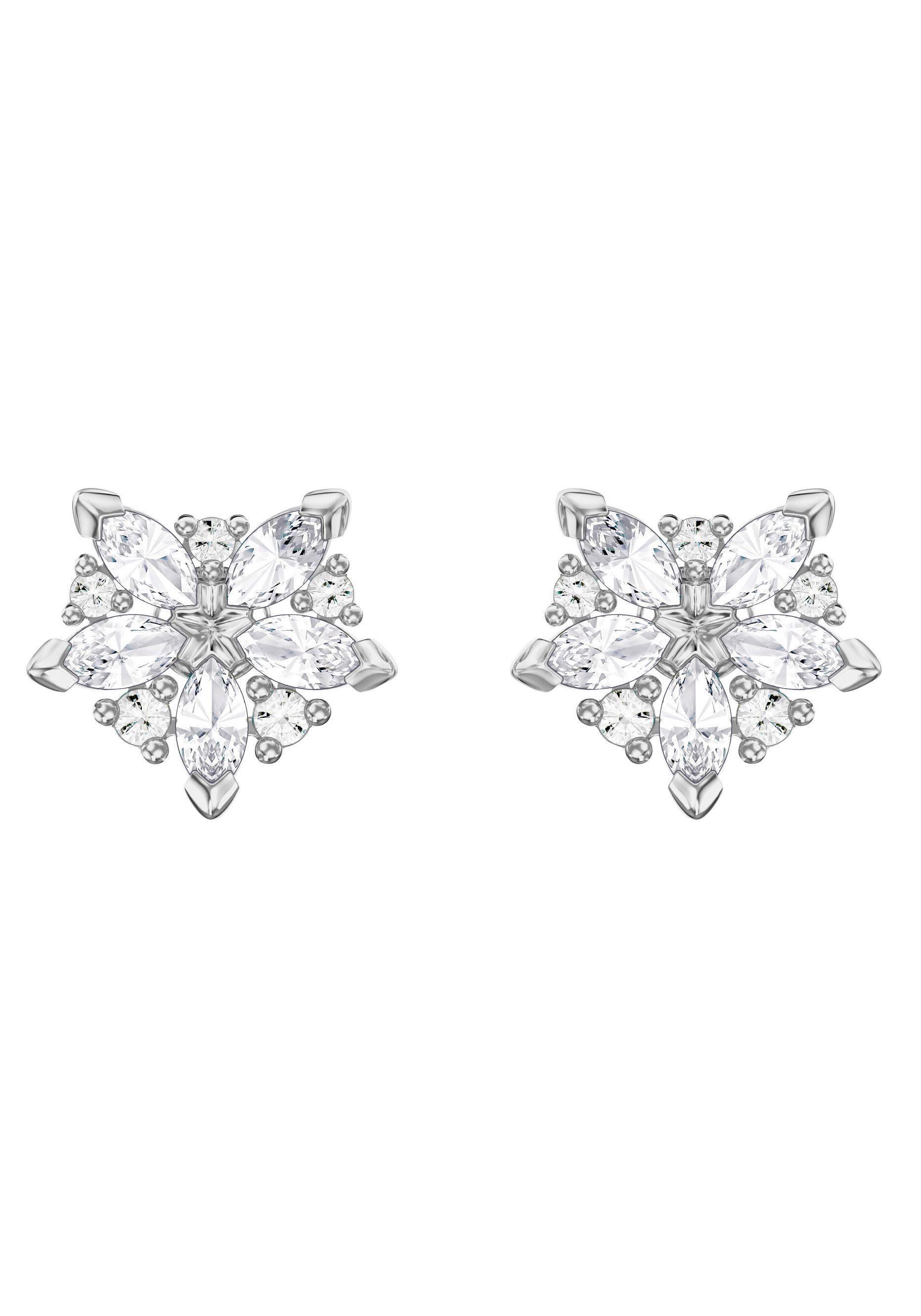Swarovski Paar Ohrstecker »Lady, weiss, rhodiniert, 5390190« mit Swarovski® Kristallen