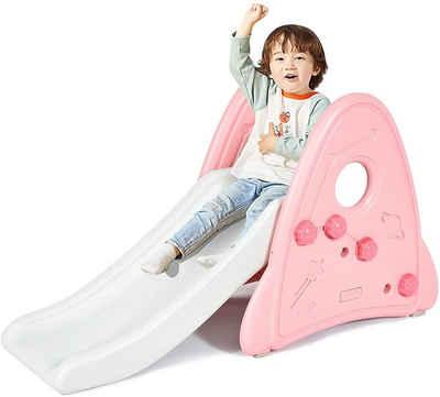 COSTWAY Rutsche »Kinder Rutsche«, für Kinder ab 6 Monaten, Gartenrutsche Kunststoff, Rutschbahn Kleinkinderrutsche für Indoor & Outdoor