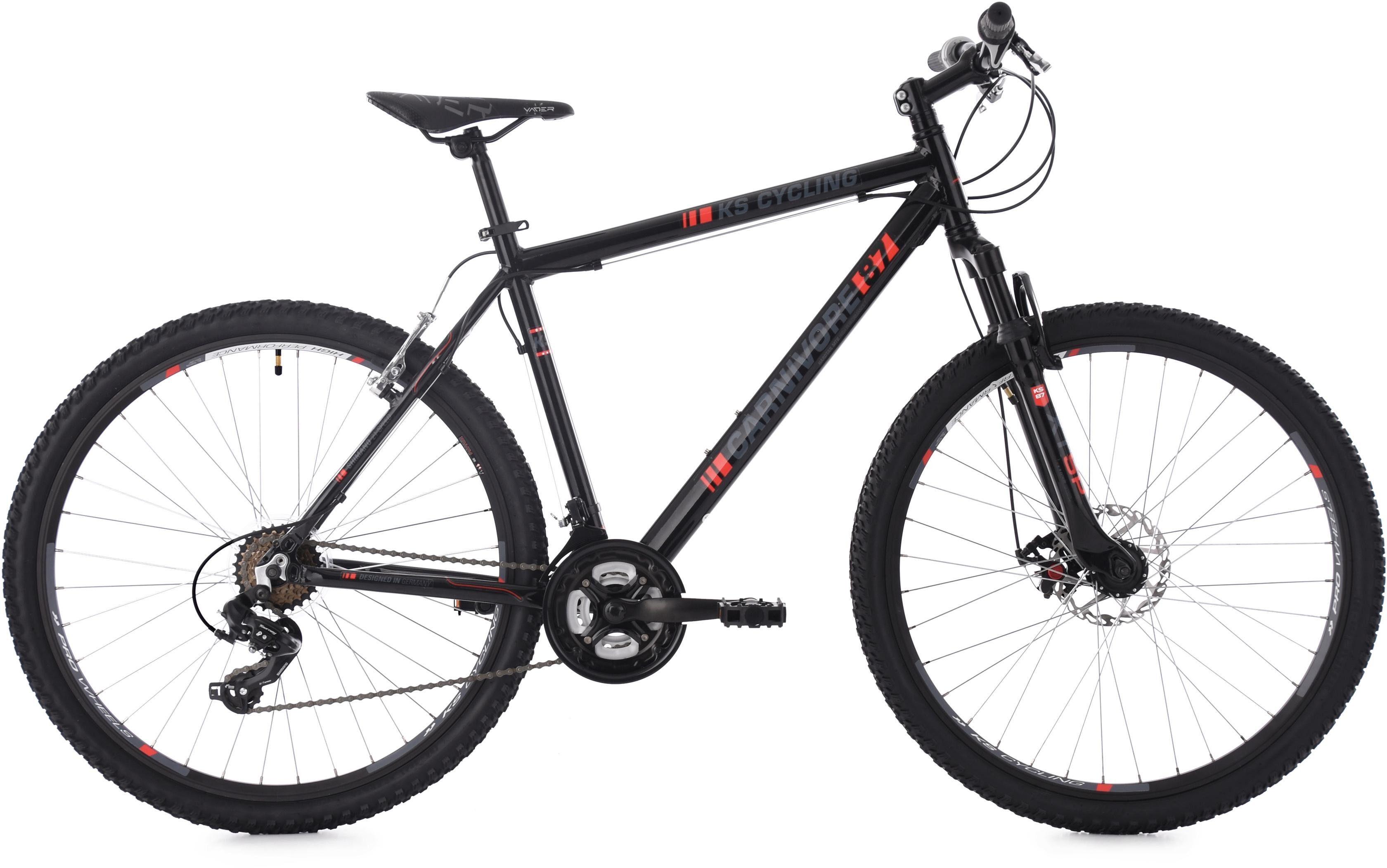 KS Cycling Mountainbike »Carnivore«, 21 Gang Shimano Tourney Schaltwerk, Kettenschaltung