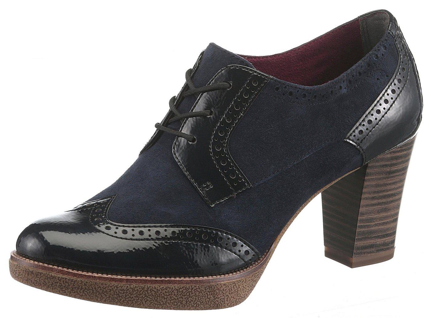 Tamaris »Fee« Schnürpumps mit eleganter Lyralochung | Schuhe > Pumps > Schnürpumps | Blau | Tamaris