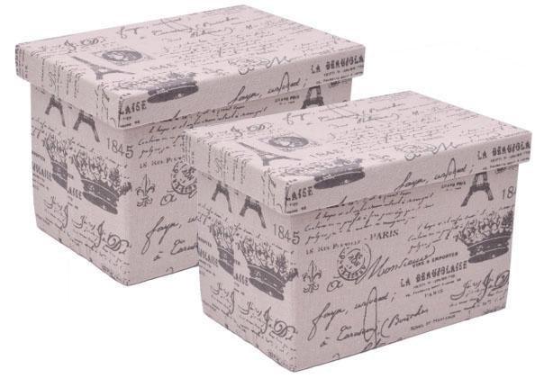 Aufbewahrungsbox mit Deckel, rechteckig, 2er Set