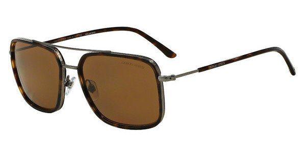 Giorgio Armani Herren Sonnenbrille » AR6031«, grau, 300383 - grau/braun
