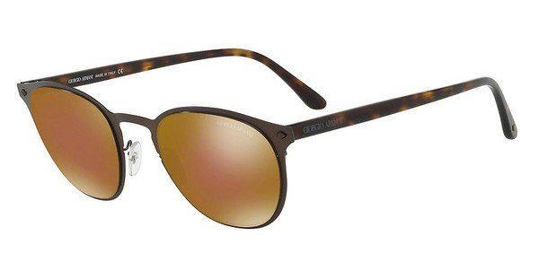 Giorgio Armani Herren Sonnenbrille » AR6062«, schwarz, 319373 - schwarz/braun