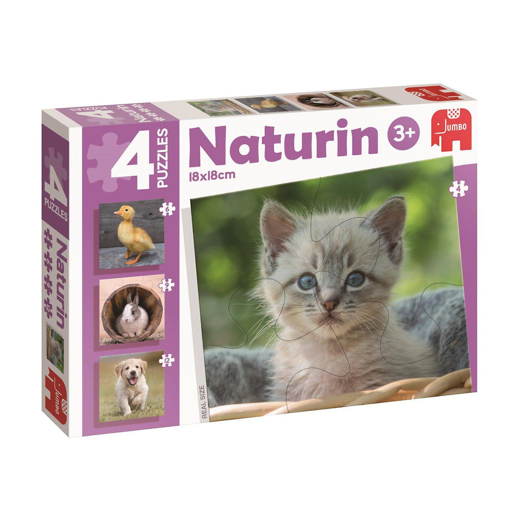 Jumbo Naturin-Puzzle - Tiere (4/6/9/12 Teile)