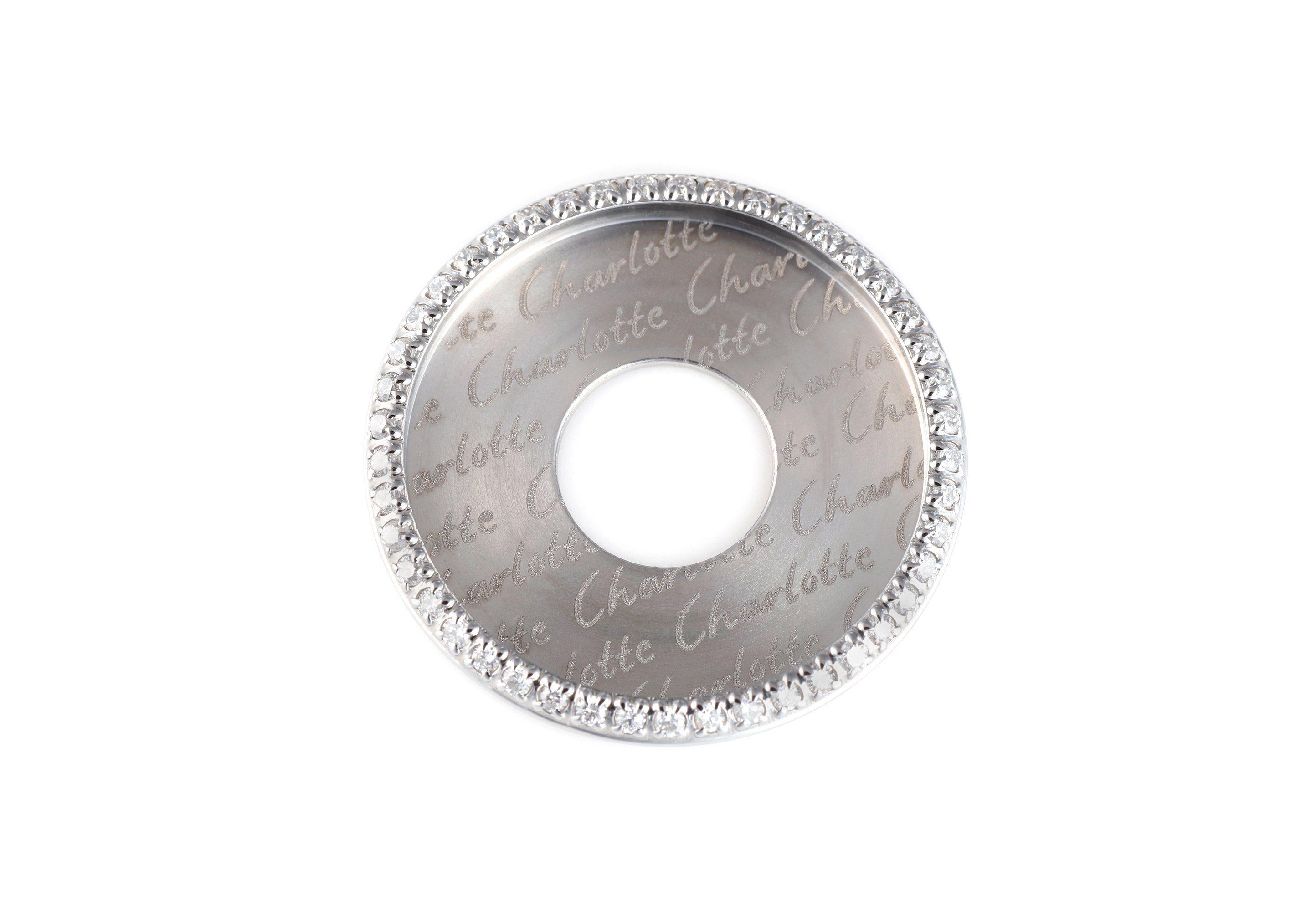 EHINGER SCHWARZ 1876 Scheibe mit Brillant-Besatz für das Ringsystem Charlotte