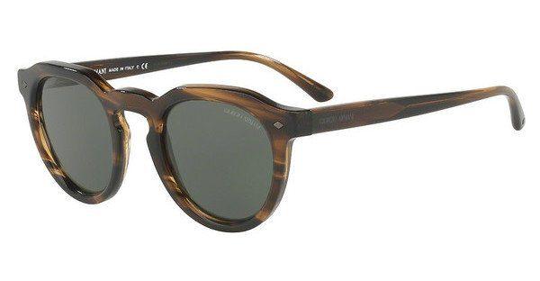 Giorgio Armani Herren Sonnenbrille » AR8093«, braun, 559431 - braun/grün
